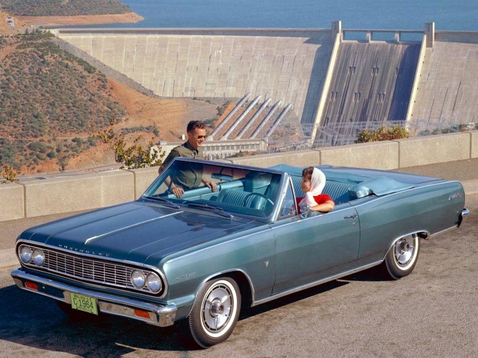 1964 Chevrolet Chevelle Malibu S-S Convertible (5758-67) muscle classic  rt wallpaper