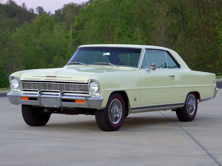1966 Chevrolet Chevy I-I Nova S-S Hardtop Coupe (11737-11837) muscle classic   h wallpaper