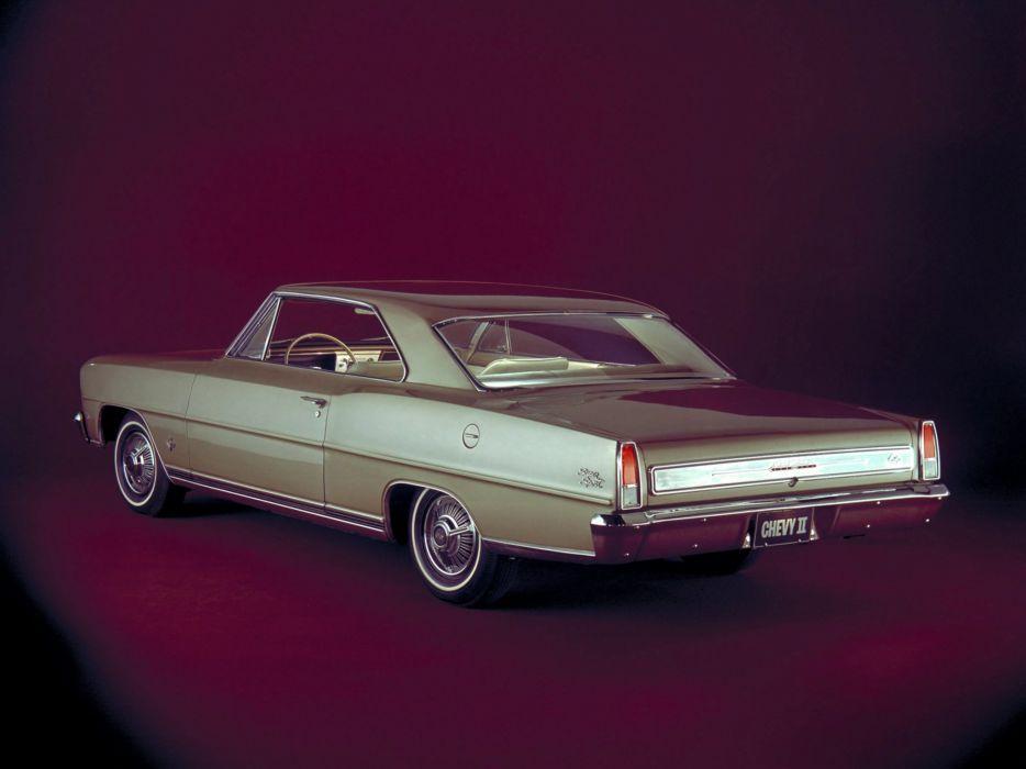 1966 Chevrolet Chevy I-I Nova S-S Hardtop Coupe (11737-11837) muscle classic   f wallpaper