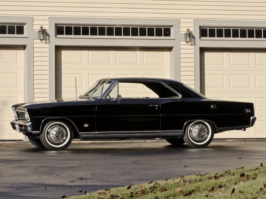 1966 Chevrolet Chevy I-I Nova S-S Hardtop Coupe (11737-11837) muscle classic  fs wallpaper