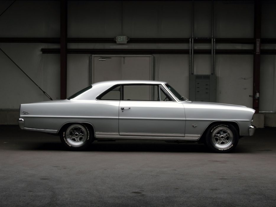 1966 Chevrolet Chevy I-I Nova S-S Hardtop Coupe (11737-11837) muscle classic hot rod rods    g wallpaper