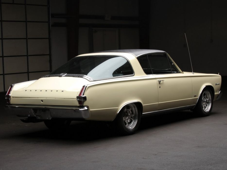 1966 Plymouth Barracuda Fastback Hardtop (BP29) muscle classic   d wallpaper