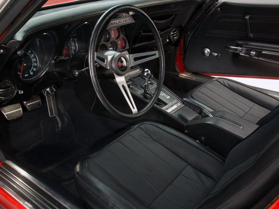 1970 Chevrolet Corvette Stingray ZR-1 (C-3) supercar muscle classic interior   f wallpaper