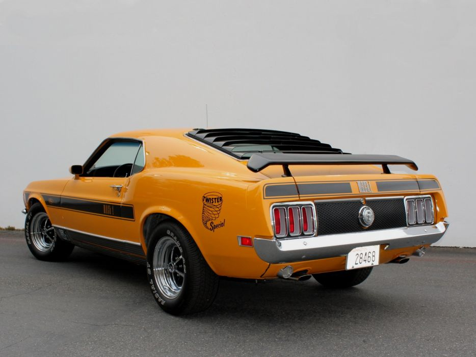 1970 Ford Mustang Mach-1 351 Twister muscle classic      g wallpaper