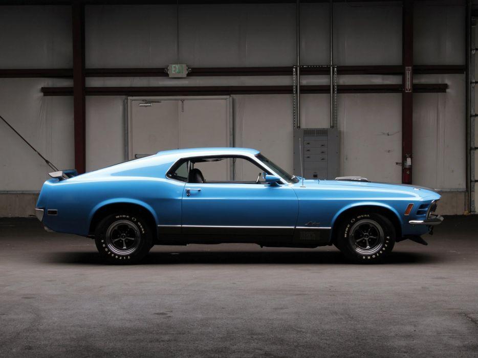 1970 Ford Mustang Mach-1 428 Super Cobra Jet muscle classic     j wallpaper