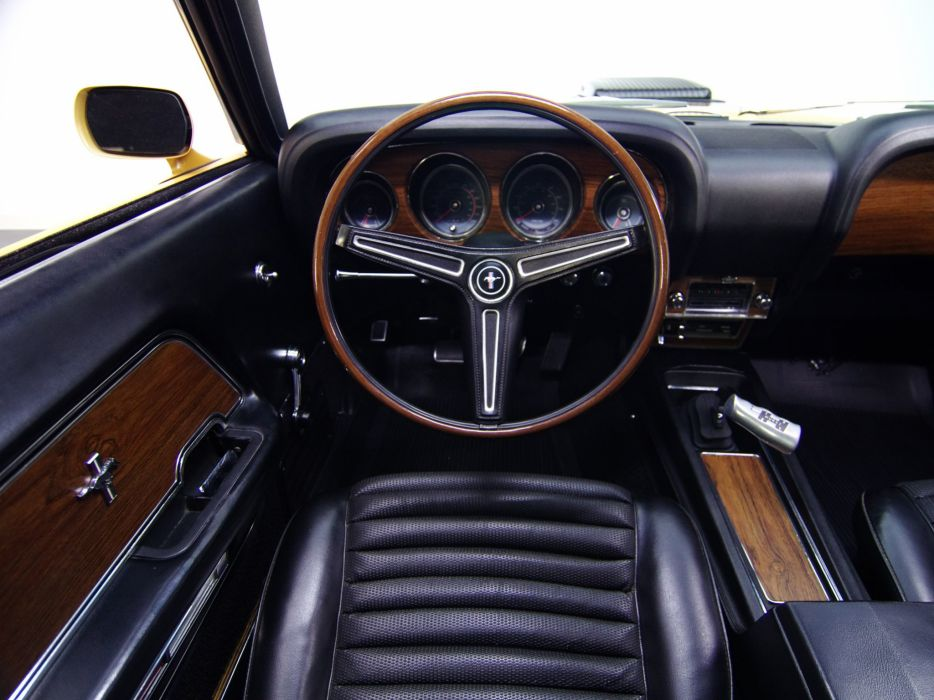 1970 Ford Mustang Mach-1 428 Super Cobra Jet muscle classic interior  o wallpaper