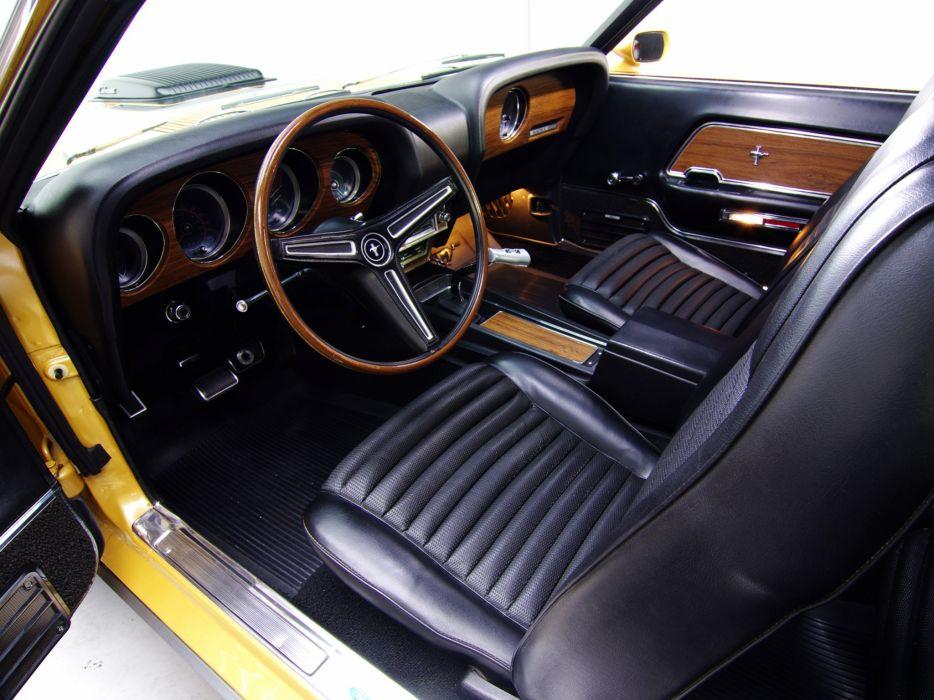 1970 Ford Mustang Mach-1 428 Super Cobra Jet muscle classic interior   e wallpaper