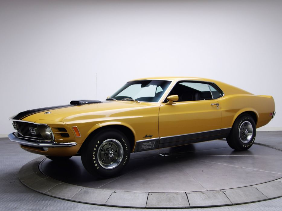 1970 Ford Mustang Mach-1 428 Super Cobra Jet muscle classic v wallpaper