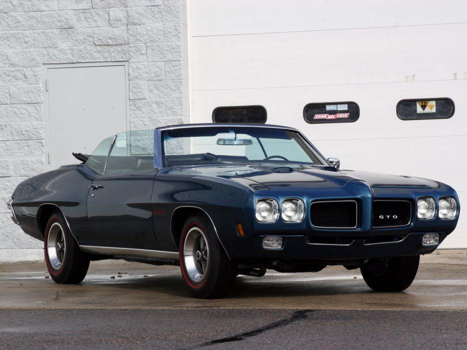 1970 Pontiac GTO Convertible (24267) muscle classic       d wallpaper