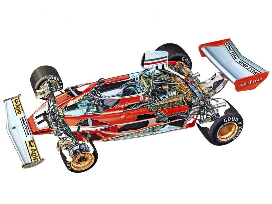 1977 Ferrari 312 T formula one f-1 race racing interior engine      g wallpaper