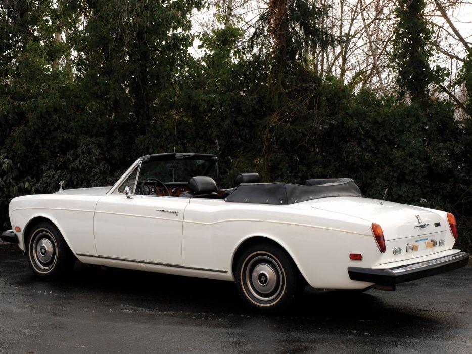 1977-87 Rolls Royce Corniche Convertible luxury  hi wallpaper