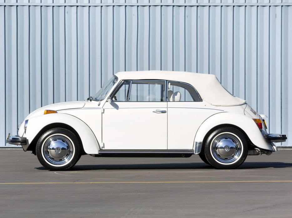 1979 Volkswagen Super Beetle Convertible (Type-1) bug  f wallpaper