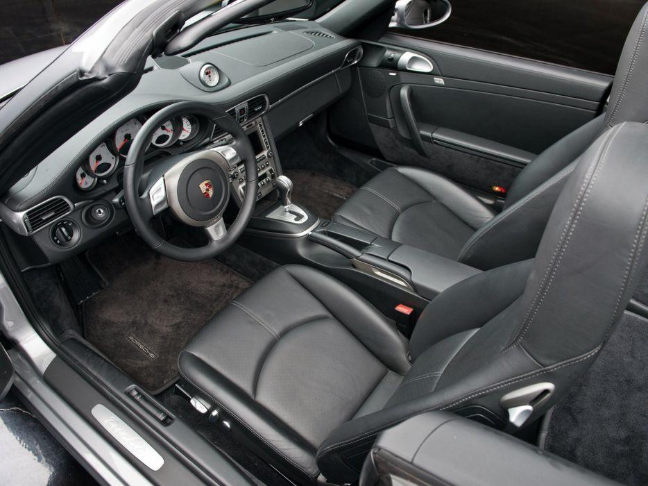 2007 Porsche 911 Turbo Cabriolet US-spec (997) supercar interior      g wallpaper