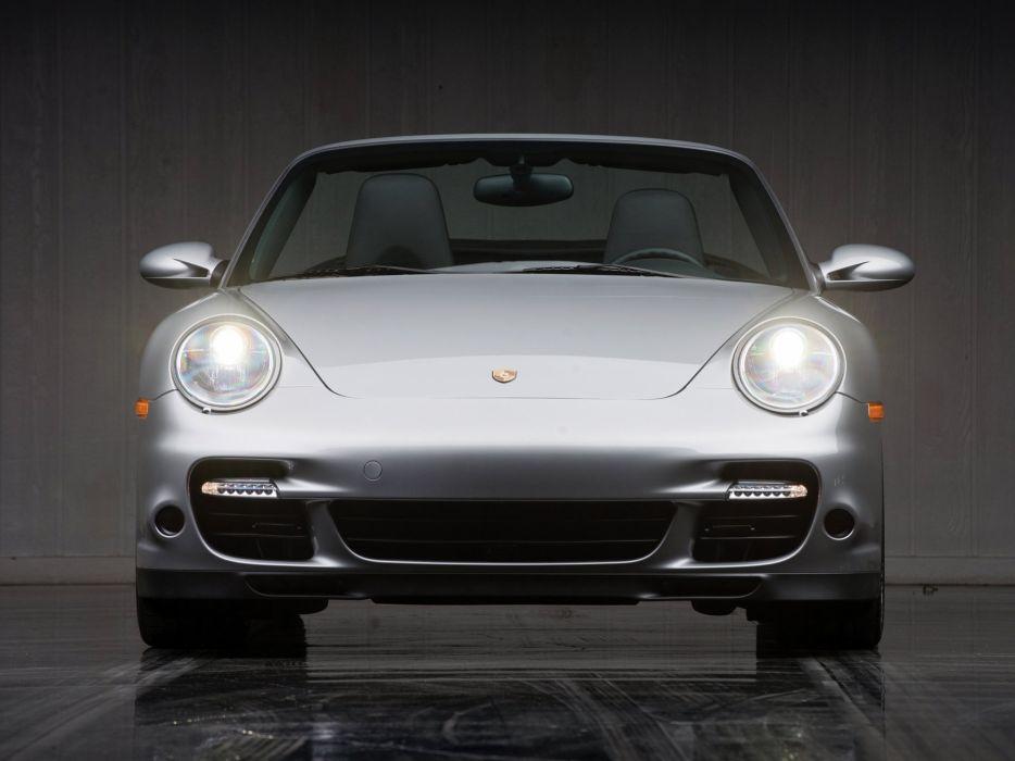 2007 Porsche 911 Turbo Cabriolet US-spec (997) supercar   f wallpaper