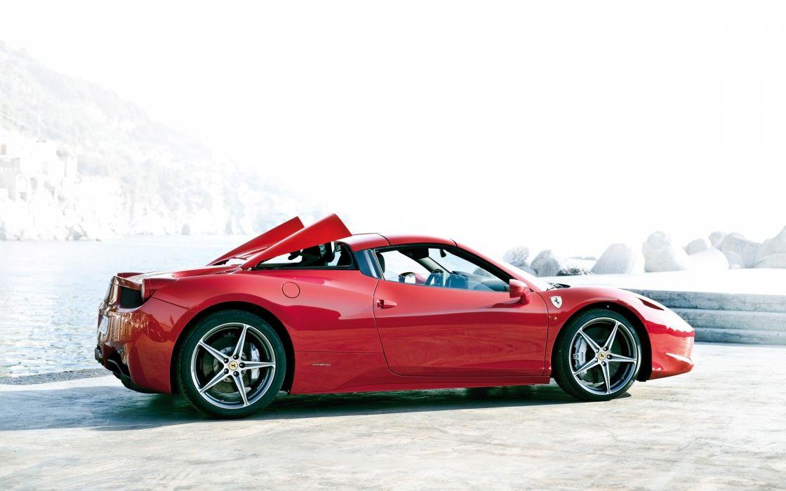 2012 Ferrari 458 Spider supercar f wallpaper