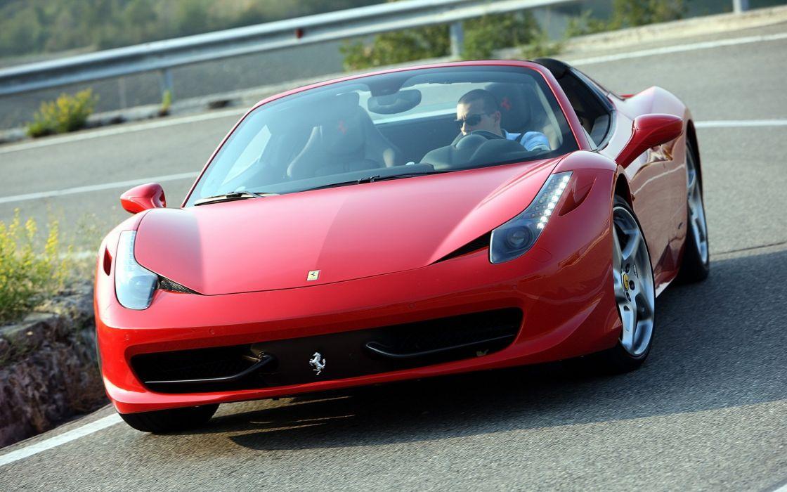 2012 Ferrari 458 Spider supercar  h wallpaper