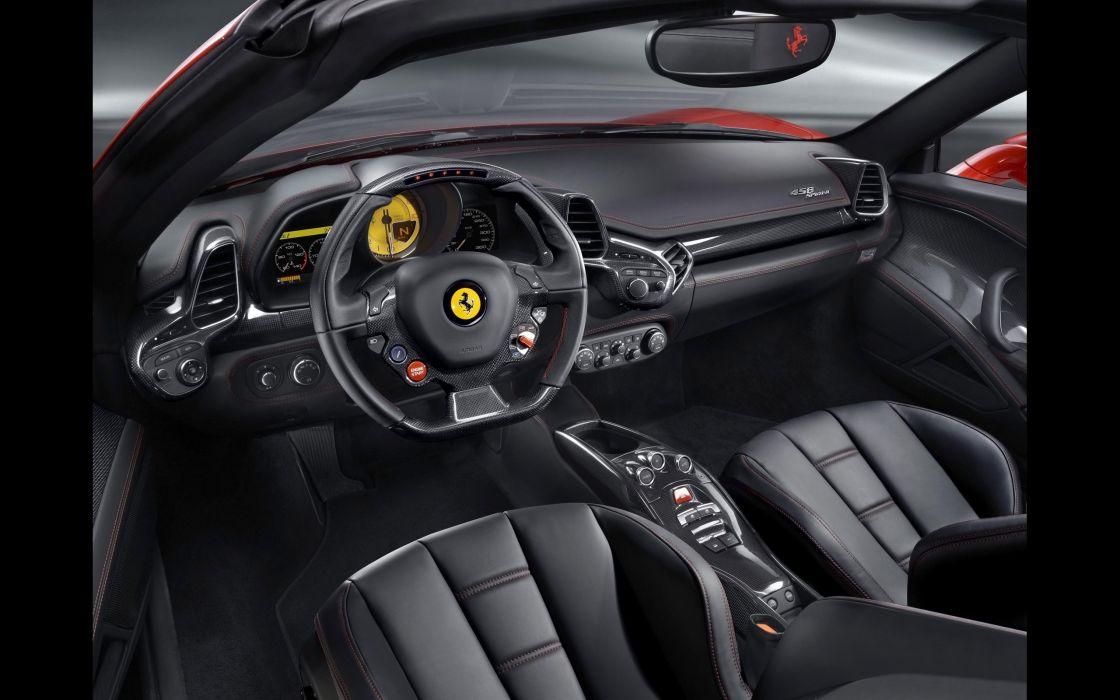 2012 Ferrari 458 Spider supercar interior  d wallpaper