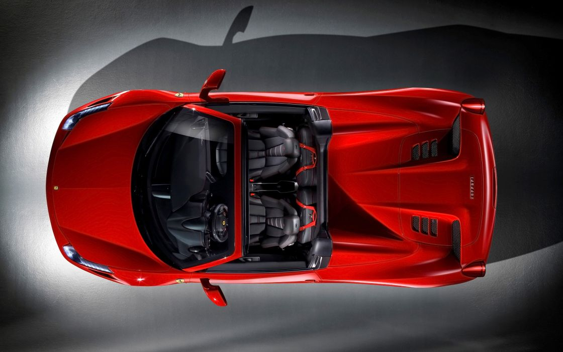 2012 Ferrari 458 Spider supercar interior     h wallpaper