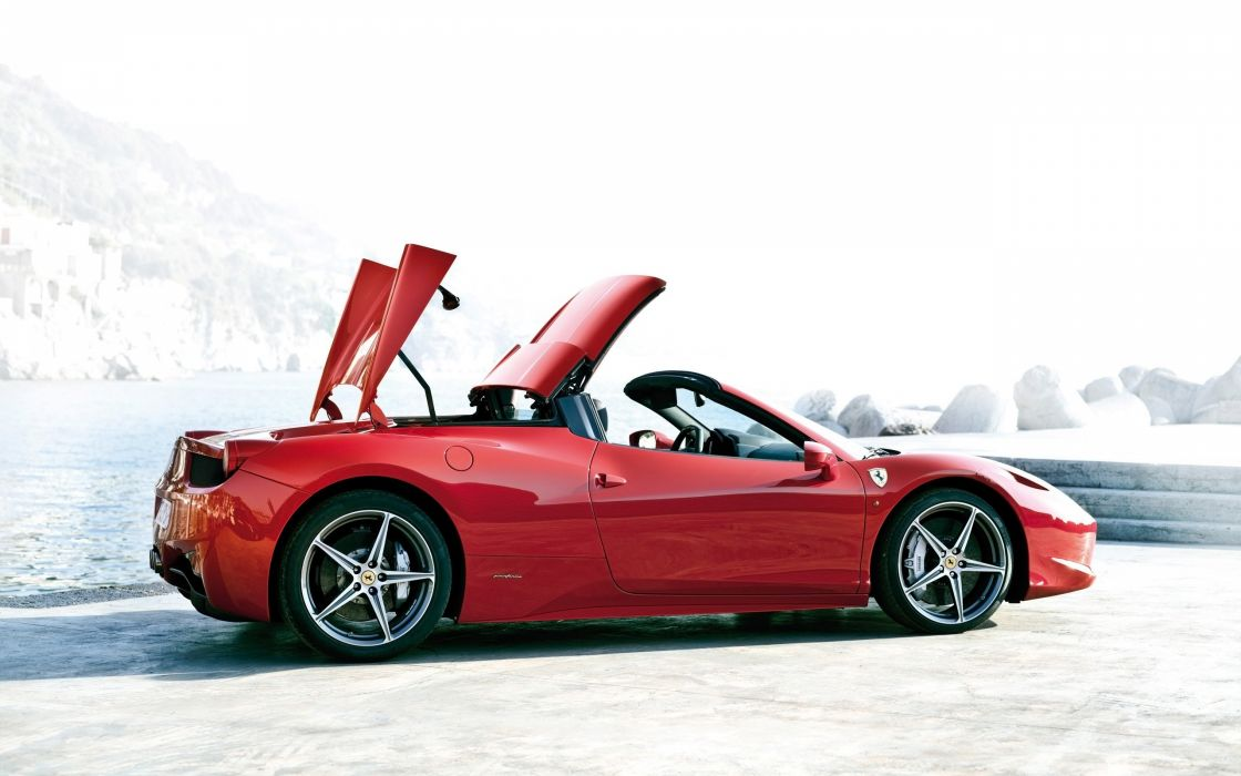 2012 Ferrari 458 Spider supercar    jf wallpaper