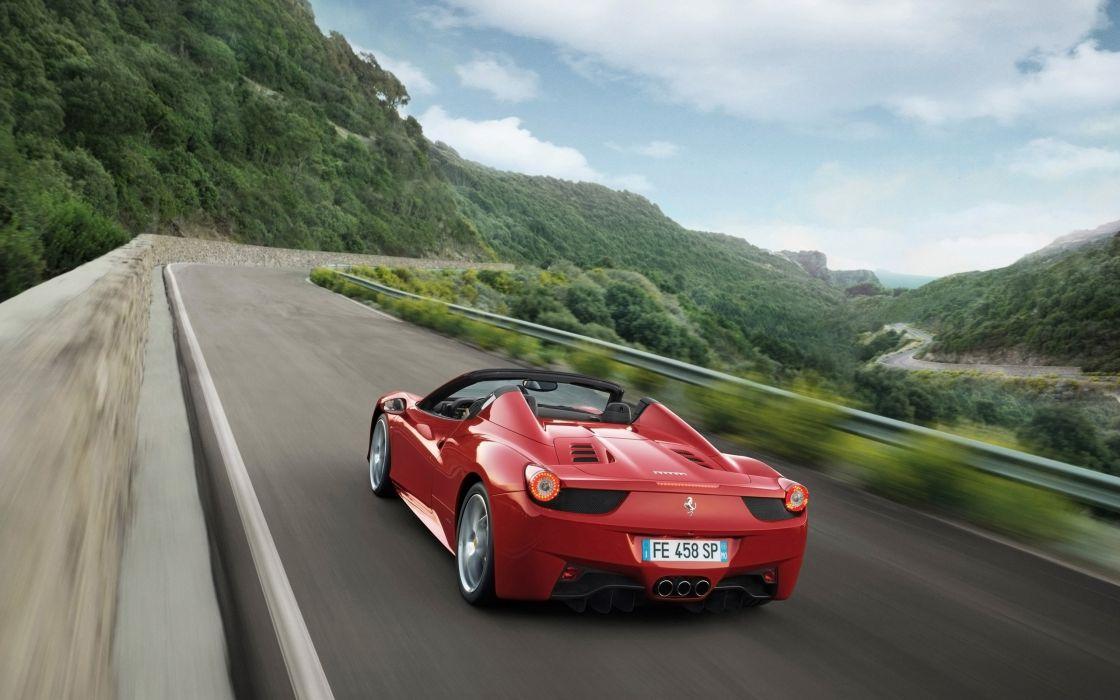2012 Ferrari 458 Spider supercar  g wallpaper