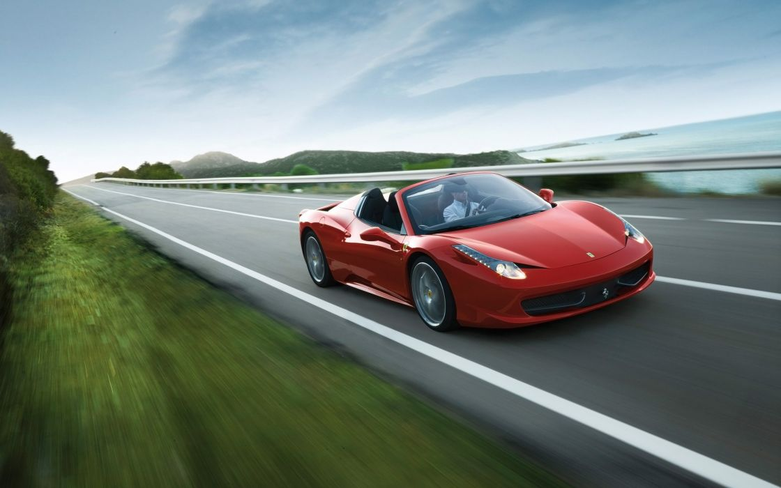 2012 Ferrari 458 Spider supercar  gd wallpaper
