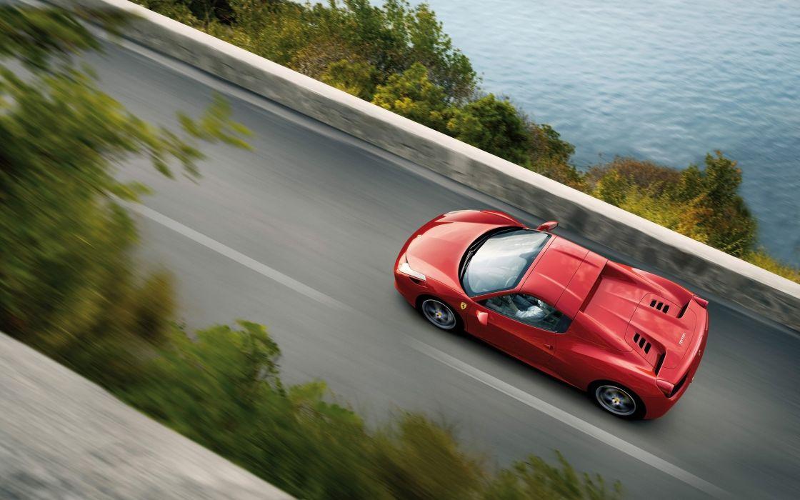 2012 Ferrari 458 Spider supercar  gw wallpaper