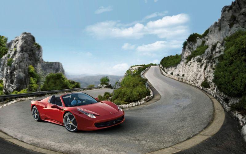 2012 Ferrari 458 Spider supercar hs wallpaper