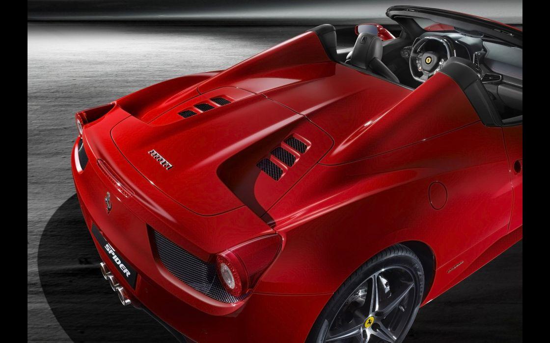 2012 Ferrari 458 Spider supercar  d wallpaper