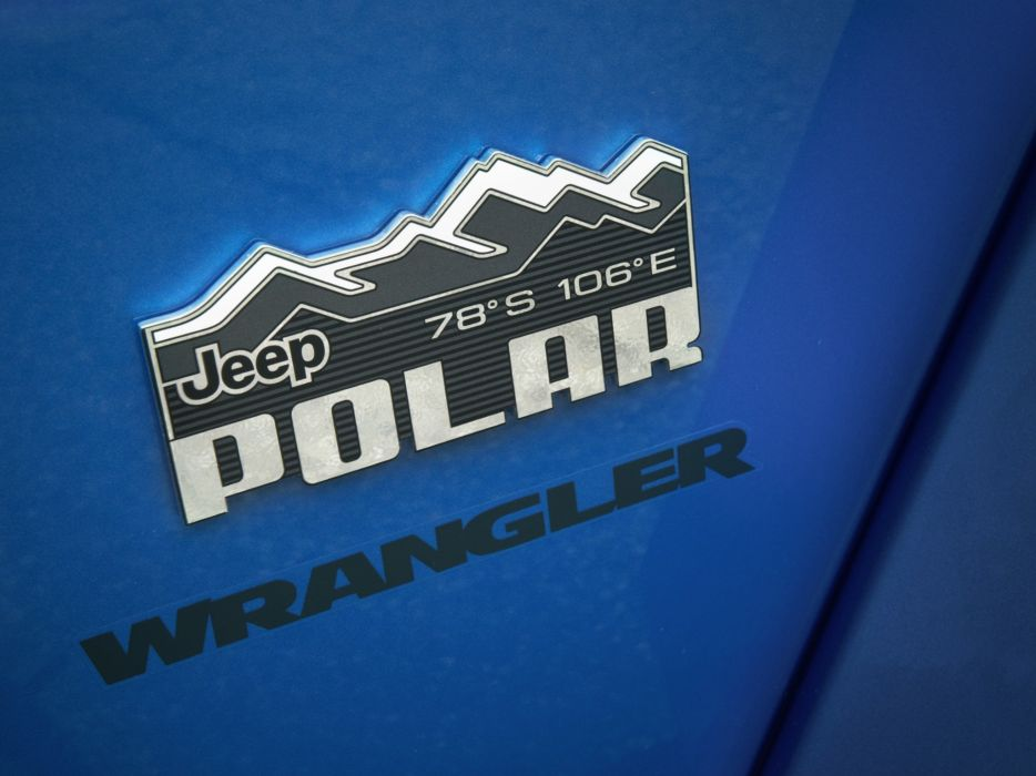 2014 Jeep Wrangler Unlimited Polar (J-K) 4x4 logo poster     g wallpaper