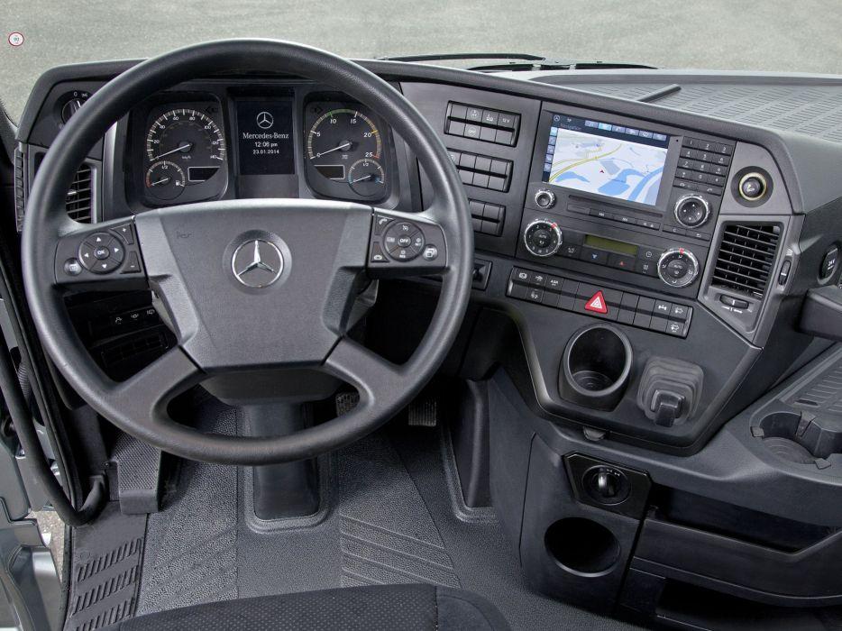 2014 Mercedes Benz Arocs 4158 SLT semi tractor interior    g wallpaper