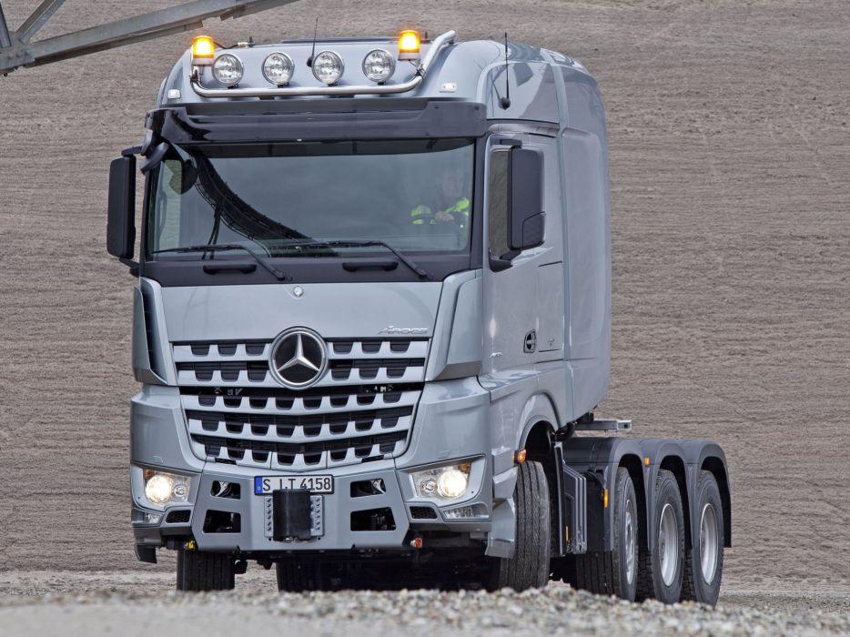 2014 Mercedes Benz Arocs 4158 SLT semi tractor  h wallpaper
