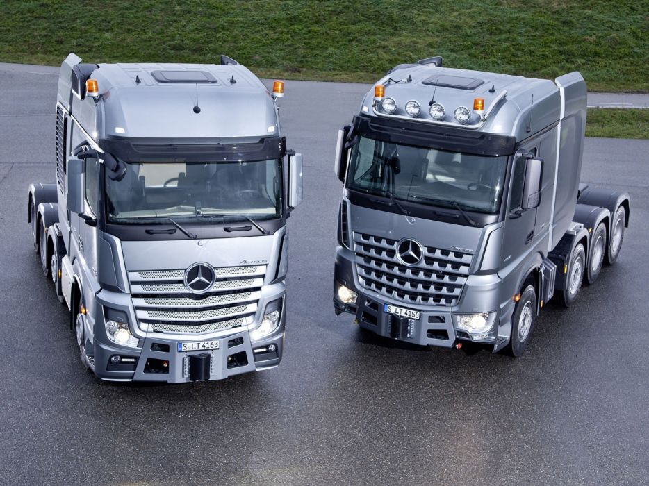 2014 Mercedes Benz semi tractor  hd wallpaper