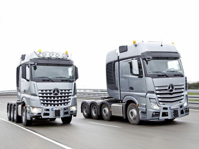2014 Mercedes Benz semi tractor g wallpaper