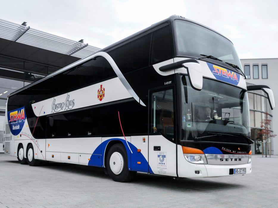 2014 Setra S431 D-T transport bus semi tractor       h wallpaper