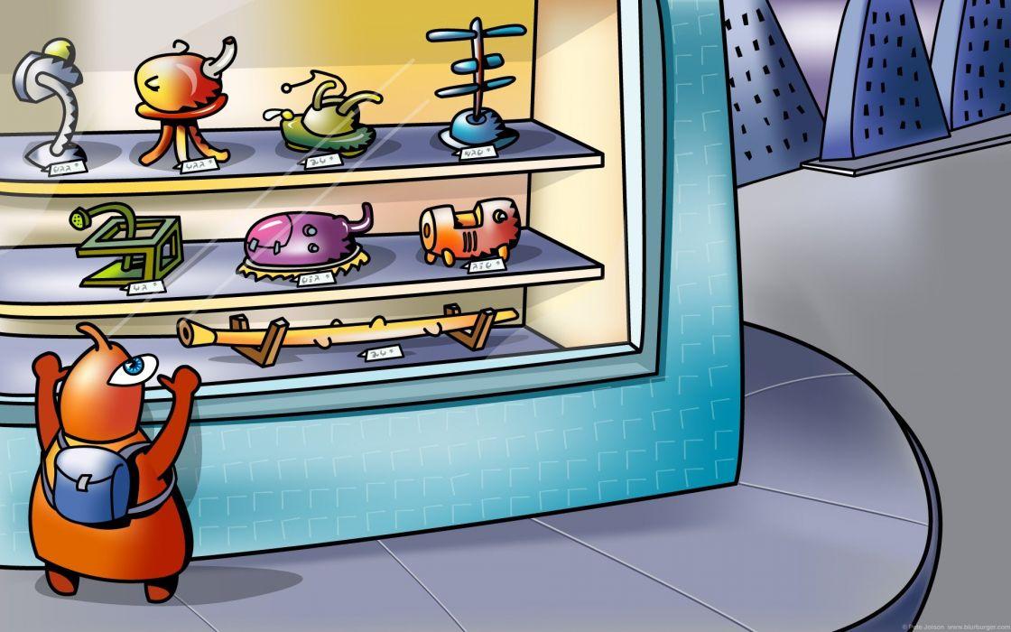 BLURBURGER cartoon anime comics puzzle game (19) wallpaper