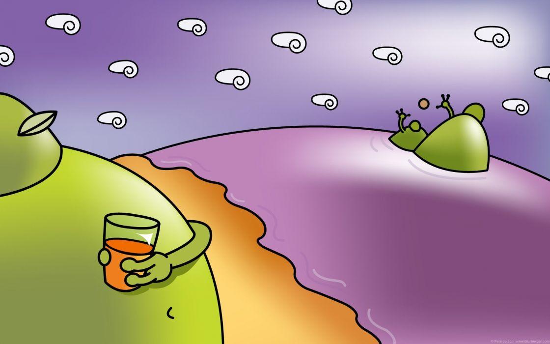 BLURBURGER cartoon anime comics puzzle game (31) wallpaper