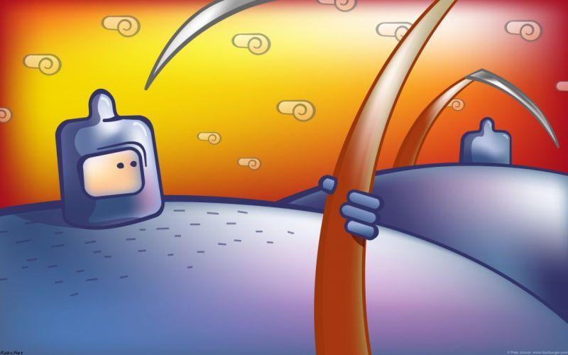 BLURBURGER cartoon anime comics puzzle game (49) wallpaper
