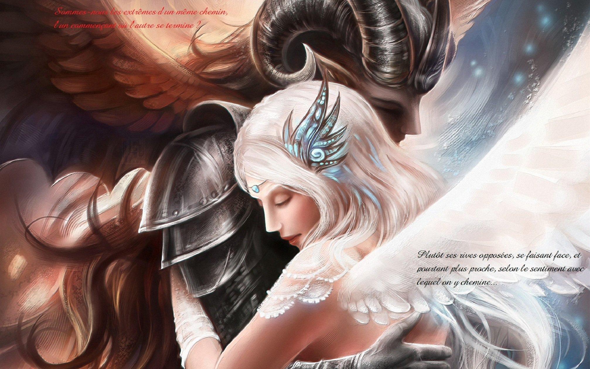 Картинка ангела и демона вместе девушки