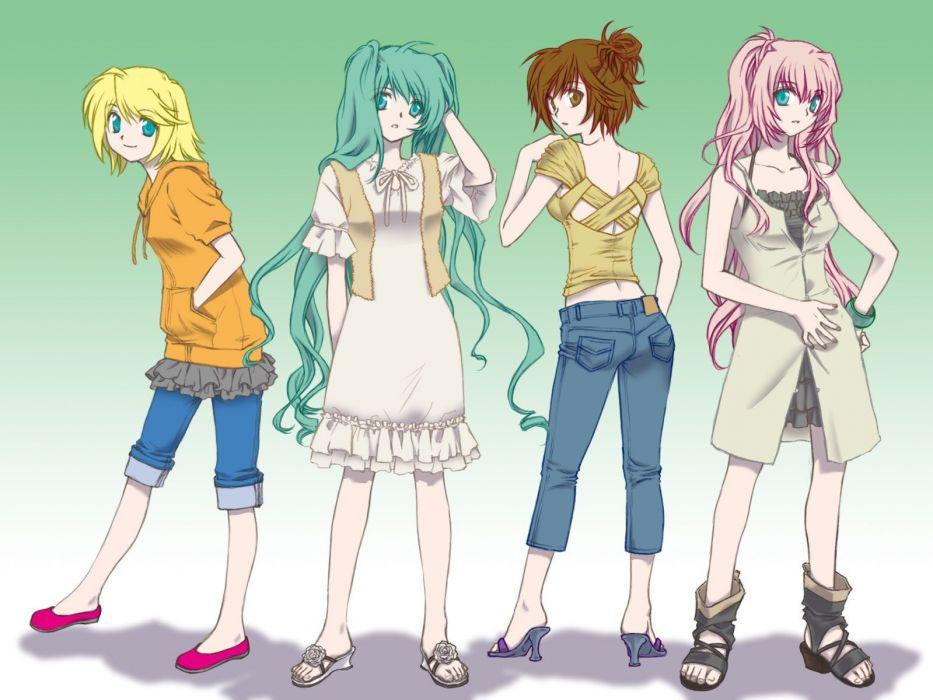 Vocaloid Hatsune Miku Megurine Luka Kagamine Rin Meiko wallpaper