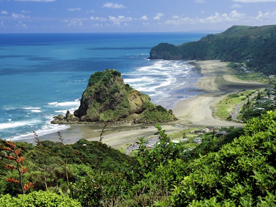 landscapes New Zealand beaches wallpaper