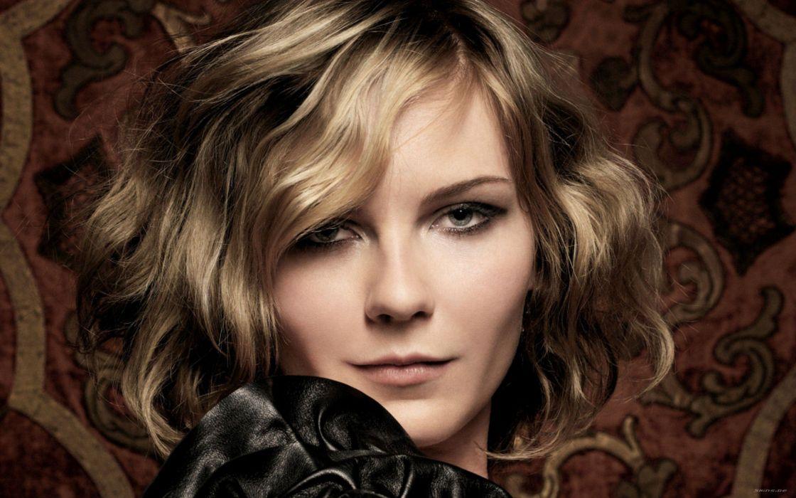 women Kirsten Dunst faces wallpaper