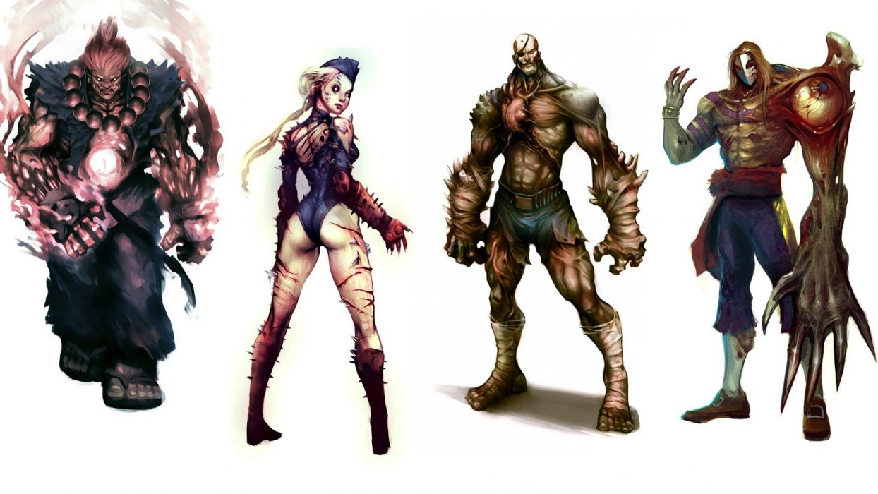 zombies Street Fighter Cammy Sagat Akuma Chun-Li Vega wallpaper