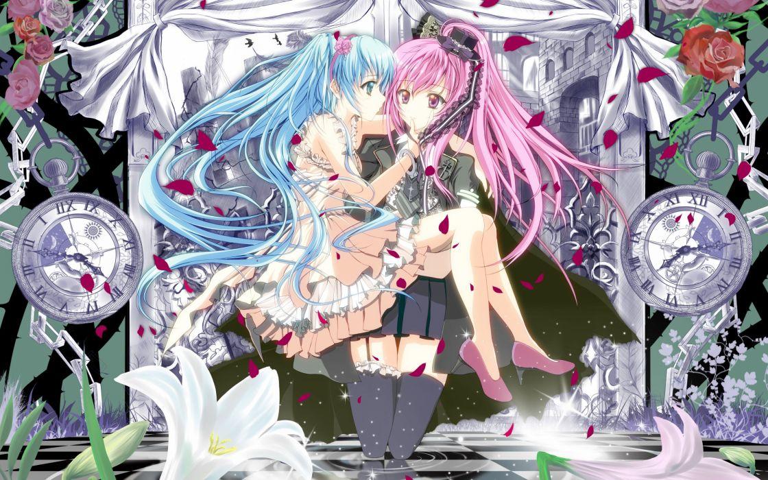 Vocaloid dress Hatsune Miku Megurine Luka wallpaper