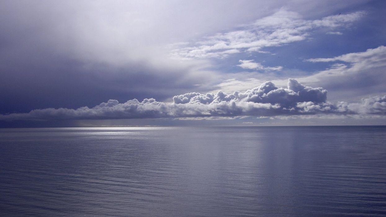 water ocean clouds sea wallpaper