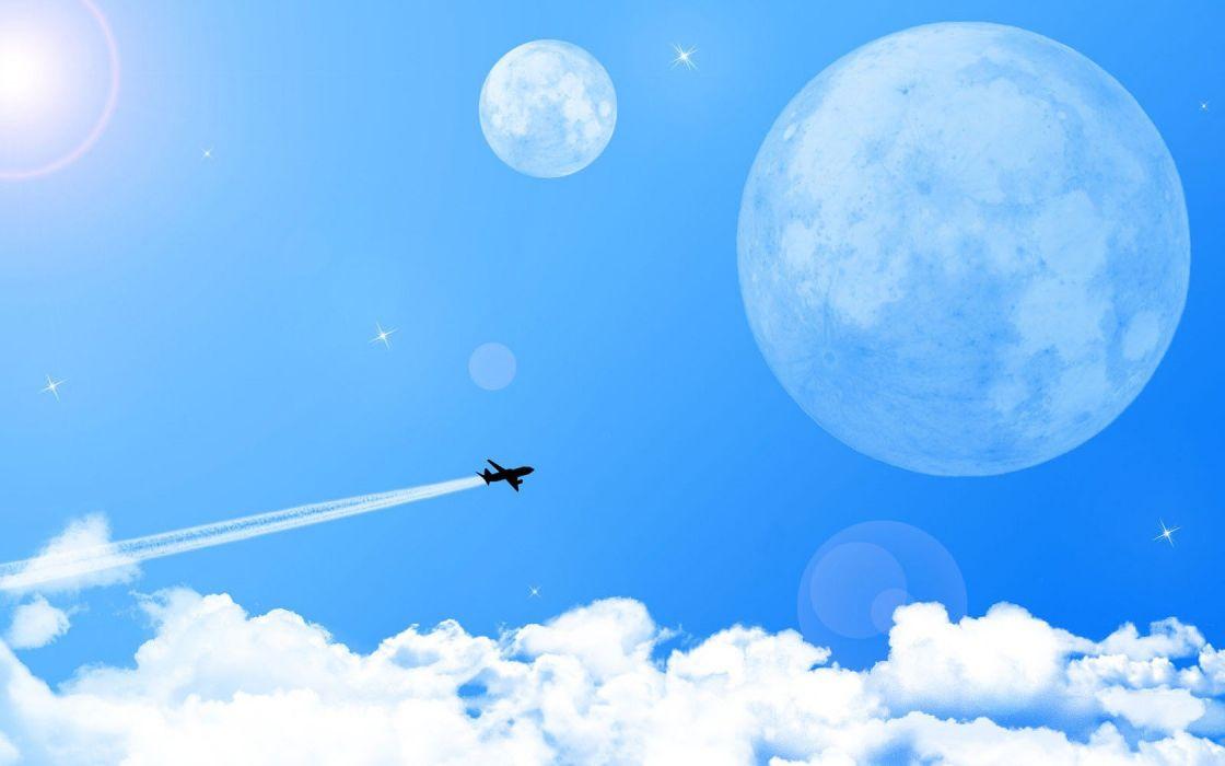 aircraft skyscapes widescreen wallpaper