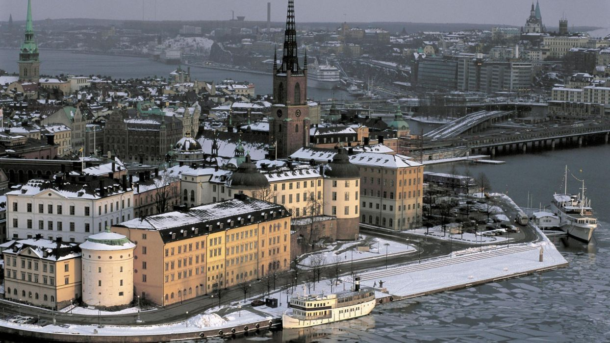 winter Sweden Stockholm Gamla Stan wallpaper
