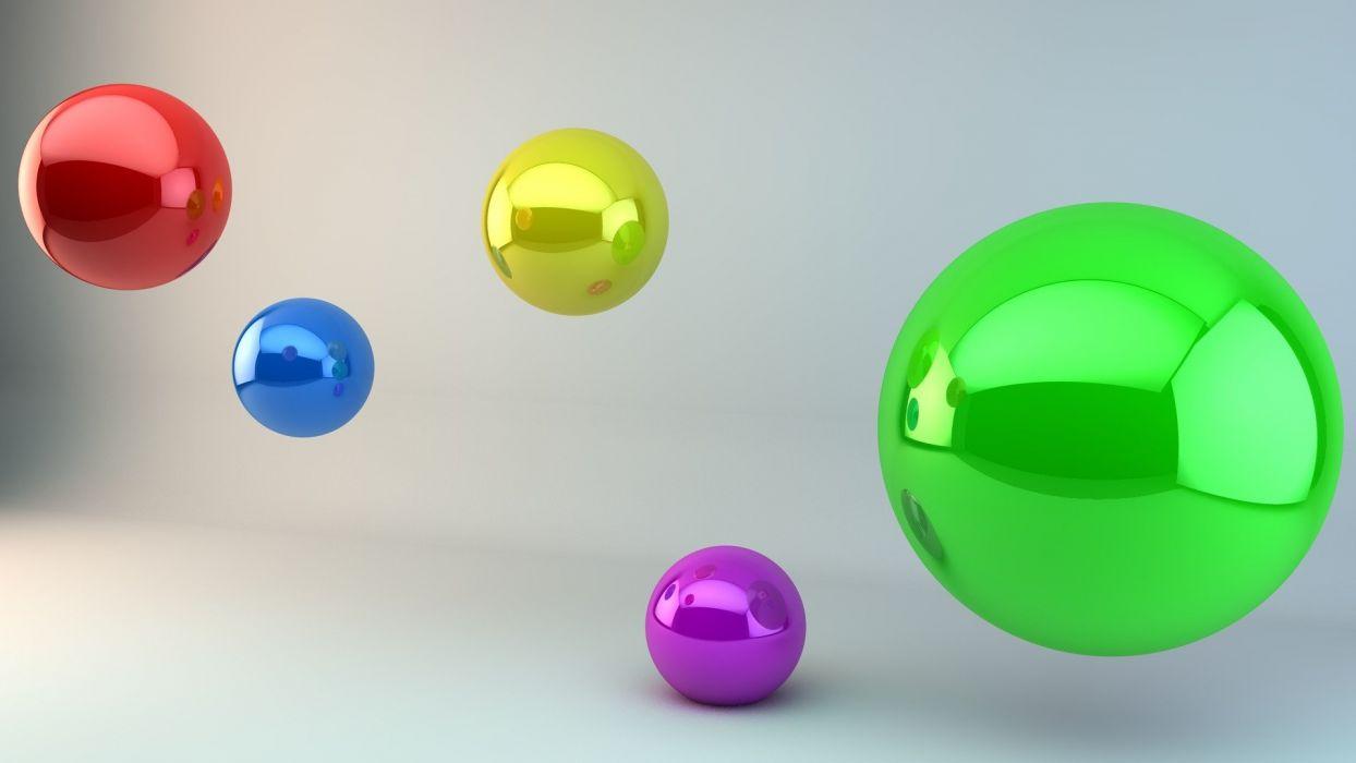 abstract shiny balls wallpaper