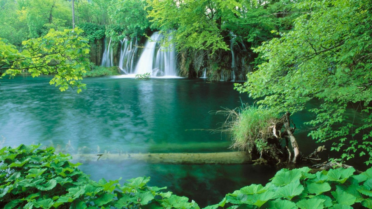 landscapes Croatia lakes waterfalls National Park plitvice wallpaper