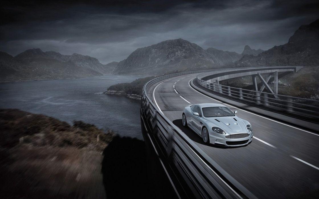 cars bridges roads lakes wallpaper