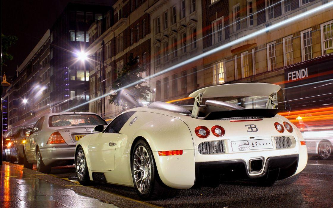 night cars Bugatti Veyron vehicles sports cars Bugatti Veyron Grand Sport wallpaper